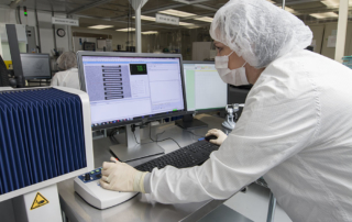 Mechanical inspection of thin film devices