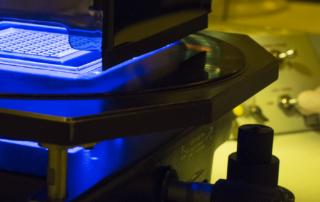 Exposure of photoresist during thin film fabrication