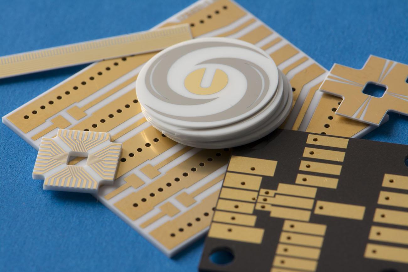 Various custom thin film samples